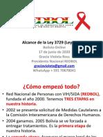 Alcance de La Ley 3729, Ley de VIH en Bolivia