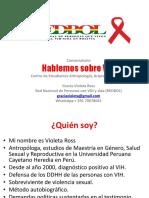 Conversatorio Sobre VIH Con Estudiantes de Antropología