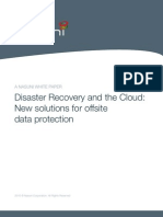 Disaster Recovery and the Cloud New Solutions for Offsite Data Protection