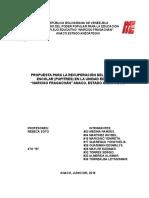 Proyecto Recuperacion de Pupitres Fragachan