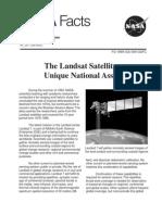 NASA Facts the Landsat Satellites Unique National Assets