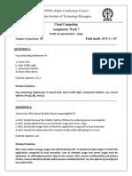 NPTEL CC Assignment 7