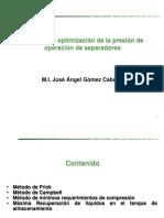 Métodos de optimización de la presión de operación