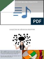 Colecție de Gânduri Pozitive