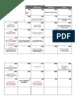 first quarter calendar