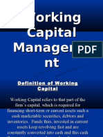 Working capital  details