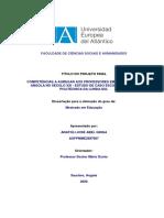 Competências a agregar aos Professores em Formação em Angola no século XXI. Estudo de caso Escola Superior Politécnica da Lunda-Sul