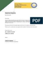 letter for DA