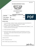 Grade 12 ls Prelim paper 1 qp