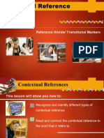 CONTEXTUAL REFERENCES - word ref