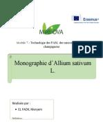 monographie sur Alium sativum