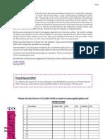 Rachel Gordon Connelly Designs - Order Form Sample