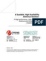 Antivirus and Content Security Clustering Solution