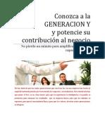 Generacion Y  - Impacto en su negocio