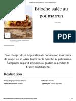 Recette Brioche Salée Au Potimarron - Cuisine _ Madame Figaro