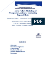 Progressive Failure Modelling of Composite Laminates Containing Tapered Holes