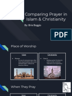 brie comparing prayer in islam   christianity