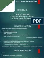 LESSON 3 EVOLUTION OF COMMUNITY