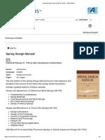 Spring Design Manual (AE-21 Book) - SAE Mobilus