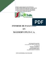 Informe de pasantia Refrigeración y Aires Acondicionados