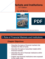 (1) Financial Markets Institutions