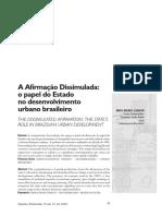 Papel Do Estado No Desenvolvimento Urbano Brasileiro
