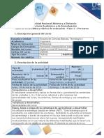 Guía de actividades y rúbrica de evaluación- Fase 1- Pre-tarea