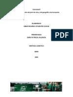 actividad 8.4 Diseño del plan de ruta y red geográfica de transporte