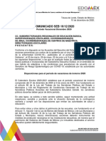Periodo vacacional diciembre Edomex 2020