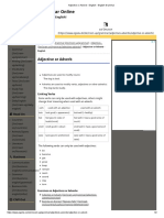 Adjective or Adverb - English - English Grammar