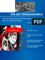 Tema 5 Primera ley de la Termodinámica para un volumen de control