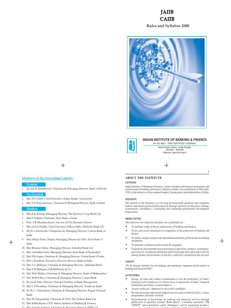 Workbooks jaiib workbook : jaiibcaiib syllabus2008   Asset Liability Management   Banks