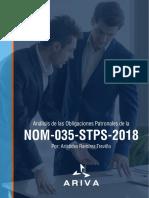 NOM-035-STPS-2018  Análisis Obligaciones Patronales
