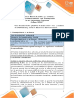 Guía de actividades y rúbrica de evaluación - Unidad 1  – Paso 2 – Análisis de alternativas y toma de decisiones de financiación.pdf