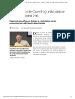 Texto relacionado à agenda 2030_ Em tempo de Covid-19, não deixar ninguém para trás - Notícias - Unesp - Universidade Estadual Paulista - Portal