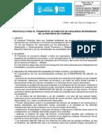 Protocolo Transporte Interurbano - COE
