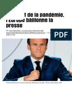 Profitant de la pandémie, l'Europe bâillonne la presse - Libération
