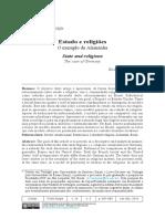 SINNER, Rudolf von. Estado e religiões - o exemplo da Alemanha