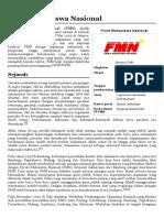 Front Mahasiswa Nasional - Wikipedia bahasa Indonesia, ensiklopedia bebas