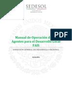 Manual de Operacion de los Agentes para el Desarrollo Local FAIS 2016