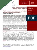 BERRINGER, Tatiana. Os movimentos populares e o sindicalismo brasileiros face aos processos de integracao regional.pdf