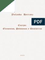 2003 Cuerpo. Elementos Pulsiones y Destierros_YH
