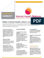 Reform of mental health services must be an election issue