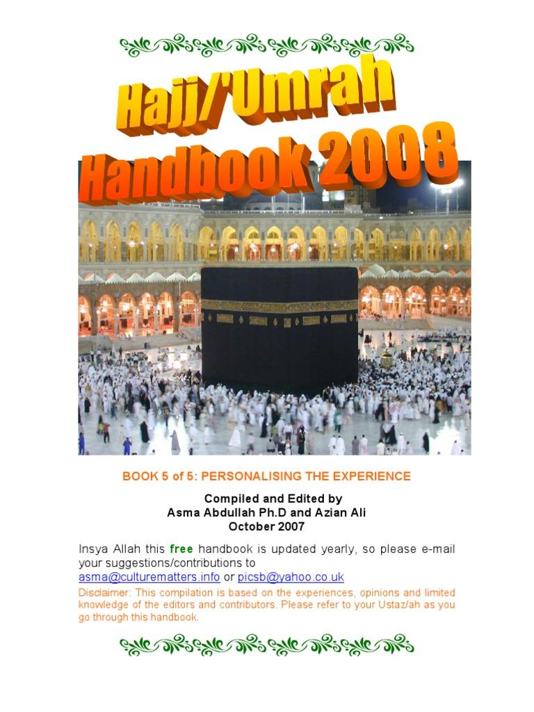 hajj umrah handbook 2008 book 5 of 5 personalising the rh scribd com