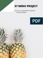 nutrition 457 menu project