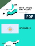 Presentacion piano musical con arduino