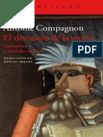 Compagnon Antoine - El Demonio de la Teoría, Literatura y sentido común OCR