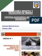 UNIDAD 1 PANORAMA DE LOS PROYECTOS MINEROS EN EL PERÚ