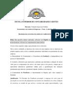 Resolucao dos exercicios de Auditoria Interna 2020