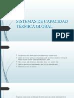 SISTEMAS DE CAPACIDAD TÉRMICA GLOBAL